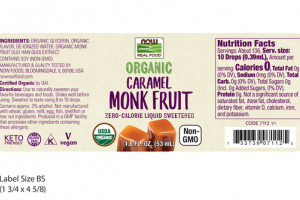 CARAMEL MONK FRUIT ZERO-CALORIE LIQUID SWEETENER