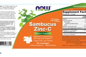 IMMUNE SUPPORT SAMBUCUS ZINC-C A DIETARY SUPPLEMENT ELDERBERRY