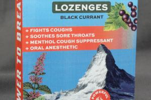 SUGAR FREE WITH VITAMIN C MENTHOL COUGH SUPPRESSANT, ORAL ANESTHETIC LOZENGES, BLACK CURRANT