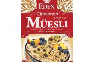 Organic Cinnamon Muesli Whole Grain, Fruit, Seeds