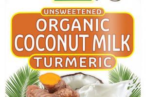UNSWEETENED ORGANIC COCONUT MILK TURMERIC