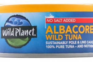 NO SALT ADDED 100% PURE ALBACORE WILD TUNA
