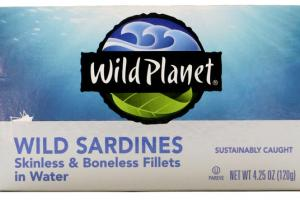 SKINLESS & BONELESS WILD SARDINES FILLETS IN WATER