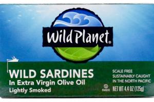 LIGHTLY SMOKED WILD SARDINES IN EXTRA VIRGIN OLIVE OIL