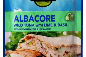 ALBACORE WILD TUNA WITH LIME & BASIL