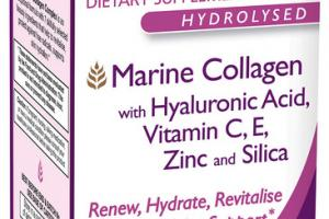 MARINE COLLAGEN WITH HYALURONIC ACID, VITAMIN C, E, ZINC AND SILICA DIETARY SUPPLEMENT TABLETS