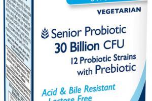 SENIORPROBIO SENIOR PROBIOTIC 30 BILLION CFU 12 PROBIOTIC STRAINS WITH PREBIOTIC PROBIOTIC SUPPLEMENT VEGETARIAN CAPSULES