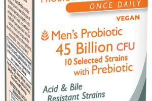 MEN'S PROBIOTIC 45 BILLION CFU I0 SELECTED STRAINS WITH PREBIOTIC SUPPLEMENT CAPSULES