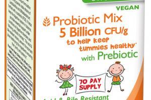 KIDZ PROBIOTIC MIX 5 BILLION CFU/G TO HELP KEEP TUMMIES HEALTHY WITH PREBIOTIC PROBIOTIC SUPPLEMENT POWDER