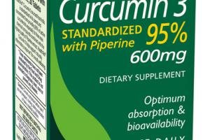 CURCUMIN 3 STANDARDIZED WITH PIPERINE 95% 600MG DIETARY SUPPLEMENT TABLETS