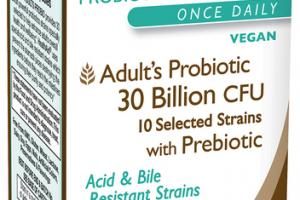 ADULT'S PROBIOTIC 30 BILLION CFU 10 SELECTED STRAINS WITH PREBIOTIC SUPPLEMENT CAPSULES