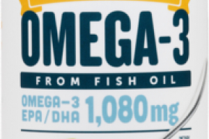 OMEGA-3 FROM FISH OIL 1,080MG DIETARY SUPPLEMENT LEMON CREME