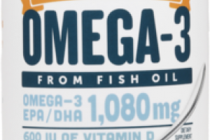 SERIOUSLY DELICIOUS OMEGA-3 EPA / DHA 1,080 MG FROM FISH OIL DIETARY SUPPLEMENT MANGO PEACH SMOOTHIE