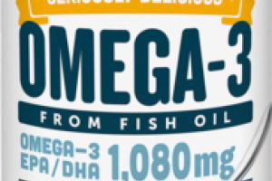 SERIOUSLY DELICIOUS OMEGA-3 EPA / DHA 1,080 MG FROM FISH OIL DIETARY SUPPLEMENT LEMON CREME