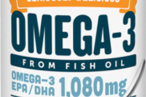 OMEGA-3 FROM FISH OIL 1,080MG DIETARY SUPPLEMENT MANGO PEACH SMOOTHIE