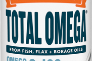 TOTAL OMEGA FROM FISH, FLAX + BORAGE OILS 2,400MG DIETARY SUPPLEMENT ORANGE CREME