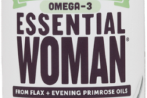 OMEGA-3 ESSENTIAL WOMAN FROM FLAX + EVENING PRIMROSE OILS 2,300 MG + GLA DIETARY SUPPLEMENT CHOCOLATE MINT