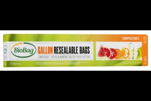COMPOSTABLE GALLON RESEALABLE BAGS