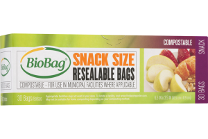SNACK SIZE RESEALABLE BAGS