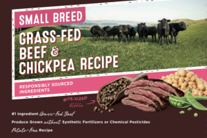 GRAIN FREE SMALL BREED GRASS-FED BEEF & CHICKPEA RECIPE NATURAL DRY FOOD FOR DOGS