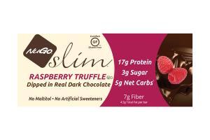 RASPBERRY TRUFFLE DIPPED IN REAL DARK CHOCOLATE SLIM BARS