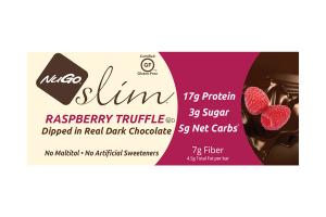 RASPBERRY TRUFFLE DIPPED IN REAL DARK CHOCOLATE SLIM BARS