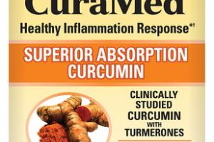 CURAMED HEALTHY INFLAMMATION RESPONSE SUPERIOR ABSORPTION CURCUMIN DIETARY SUPPLEMENT CAPSULES