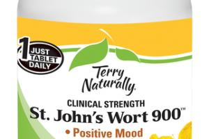 CLINICAL STRENGTH ST. JOHN'S WORT 900 POSTIIVE MOOD, EMOTIONAL HEALTH DIETARY SUPPLEMENT TABLETS