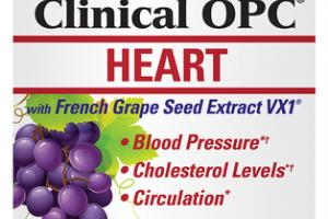 CLINICAL OPC HEART WITH FRENCH GRAPE SEED EXTRACT VX1 DIETARY SUPPLEMENT CAPSULES