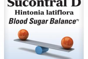 SUCONTRAL®D HINTONIA LATIFLORA BLOOD SUGAR BALANCE DIETARY SUPPLEMENT CAPSULES