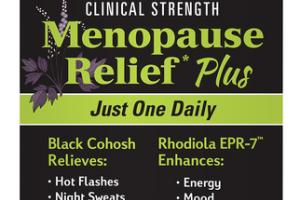CLINICAL STRENGTH MENOPAUSE RELIEF PLUS DIETARY SUPPLEMENT VEGAN CAPSULES