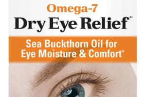 OMEGA-7 DRY EYE RELIEF SEA BUCKTHORN OIL FOR EYE MOISTURE & COMFORT DIETARY SUPPLEMENT SOFTGELS