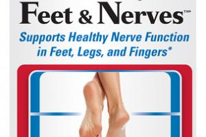 HEALTHY FEET & NERVES SUPPORTS HEALTHY NERVE FUNCTION IN FEET, LEGS, AND FINGERS DIETARY SUPPLEMENT VEGAN CAPSULES