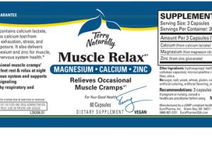 MUSCLE RELAX MAGNESIUM, CALCIUM, ZINC DIETARY SUPPLEMENT VEGAN CAPSULES