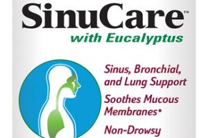 SINUCARE WITH EUCALYPTUS SINUS, BRONCHIAL, AND LUNG SUPPORT, SOOTHES MUCOUS MEMBRANES DIETARY SUPPLEMENT SOFTGELS