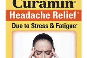 CURCUMIN HEADACHE RELIEF DUE TO STRESS & FATIGUE DIETARY SUPPLEMENT VEGAN TABLETS
