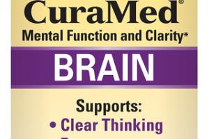 BRAIN CURCUMIN WITH TURMERONES MENTAL FUNCTION AND CLARITY DIETARY SUPPLEMENT SOFTGELS