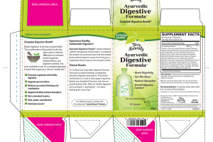 AYURVEDIC DIGESTIVE FORMULA DIETARY SUPPLEMENT VEGAN CAPSULES