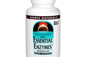 DAILY ESSENTIAL ENZYMES SUPPLEMENT DIGESTIVE AID 500 MG CAPSULES