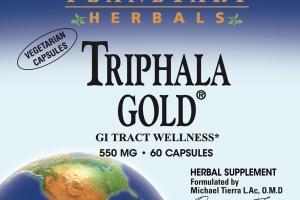 TRIPHALA GOLD® GI TRACT WELLNESS* 550MG HERBAL SUPPLEMENT VEGETARIAN CAPSULES