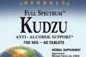 FULL SPECTRUM KUDZU ANTI - ALCOHOL SUPPORT HERBAL SUPPLEMENT TABLETS
