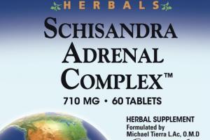 SCHISANDRA ADRENAL COMPLEX HERBAL SUPPLEMENT TABLETS