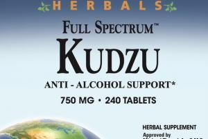 FULL SPECTRUM KUDZU ANTI - ALCOHOL SUPPORT 750 MG HERBAL SUPPLEMENT TABLETS