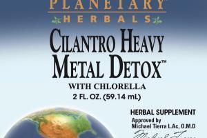 CILANTRO HEAVY METAL DETOX WITH CHLORELLA HERBAL SUPPLEMENT
