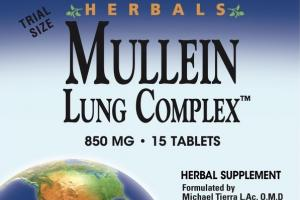 MULLEIN LUNG COMPLEX 850 MG HERBAL SUPPLEMENT TABLETS