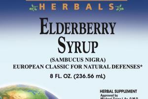 ELDERBERRY SYRUP (SAMBUCUS NIGRA) EUROPEAN CLASSIC FOR NATURAL DEFENSES HERBAL SUPPLEMENT