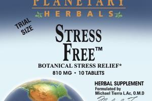 STRESS FREE BOTANICAL STRESS RELIEF HERBAL SUPPLEMENT TABLETS