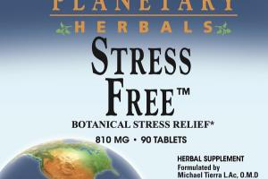 STRESS FREE 810 MG BOTANICAL STRESS RELIEF HERBAL SUPPLEMENT TABLETS