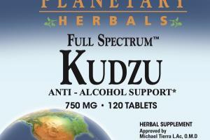 FULL SPECTRUM KUDZU 750 MG ANTI-ALCOHOL SUPPORT HERBAL SUPPLEMENT TABLETS