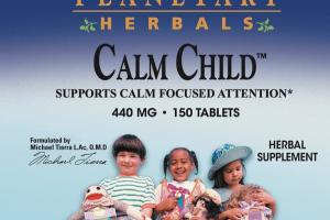 CALM CHILD SUPPORTS CALM FOCUSED ATTENTION 440 MG HERBAL SUPPLEMENT TABLETS